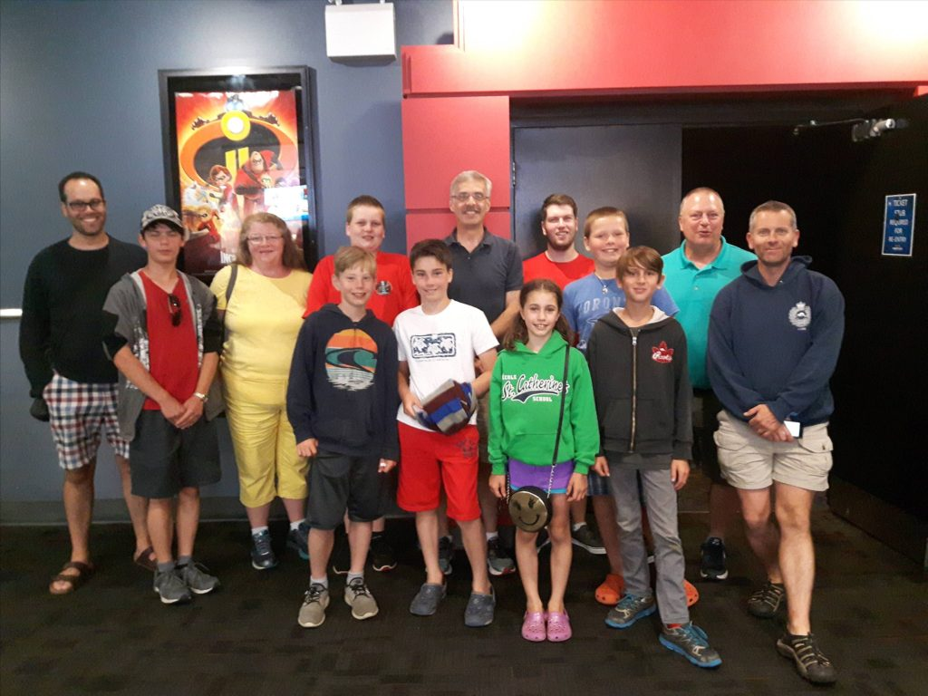 26th Halifax Scouts at the movies