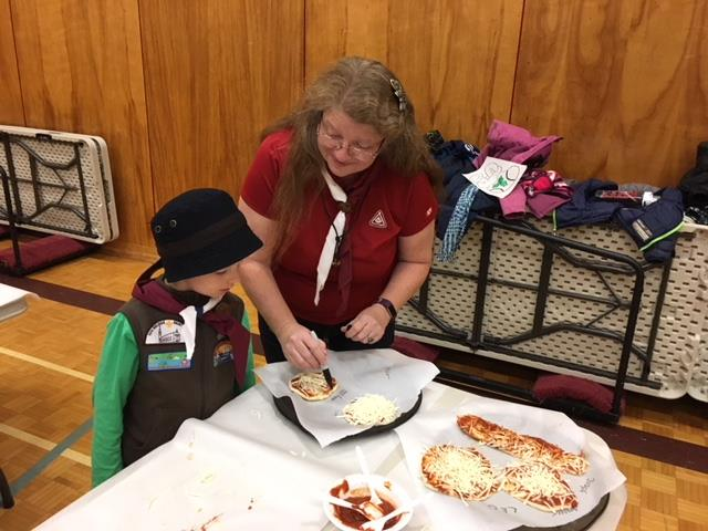 26th Halifax Beaver Cubs make pizza from scratch