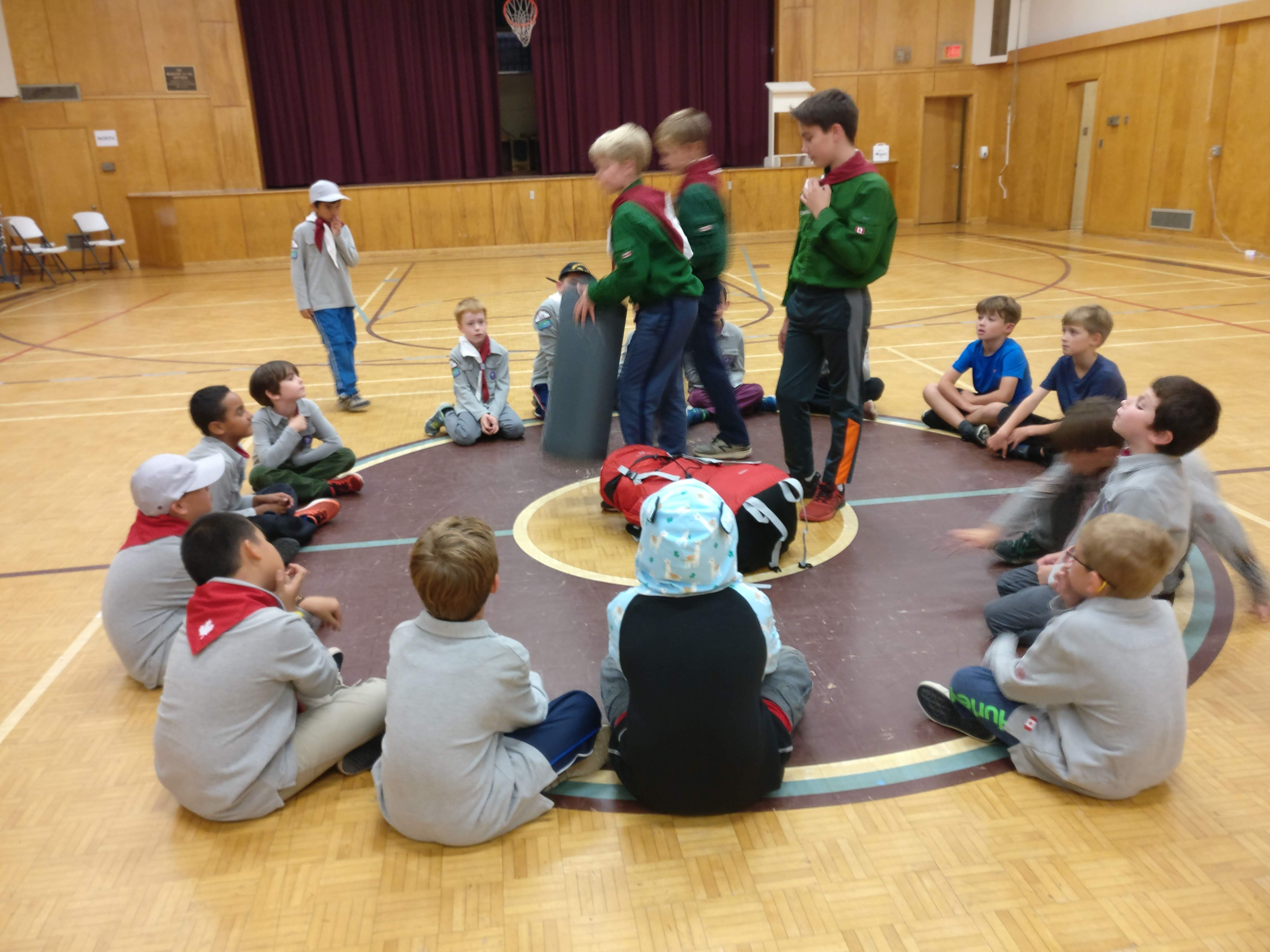 26th Scouts run a Cubs meeting!