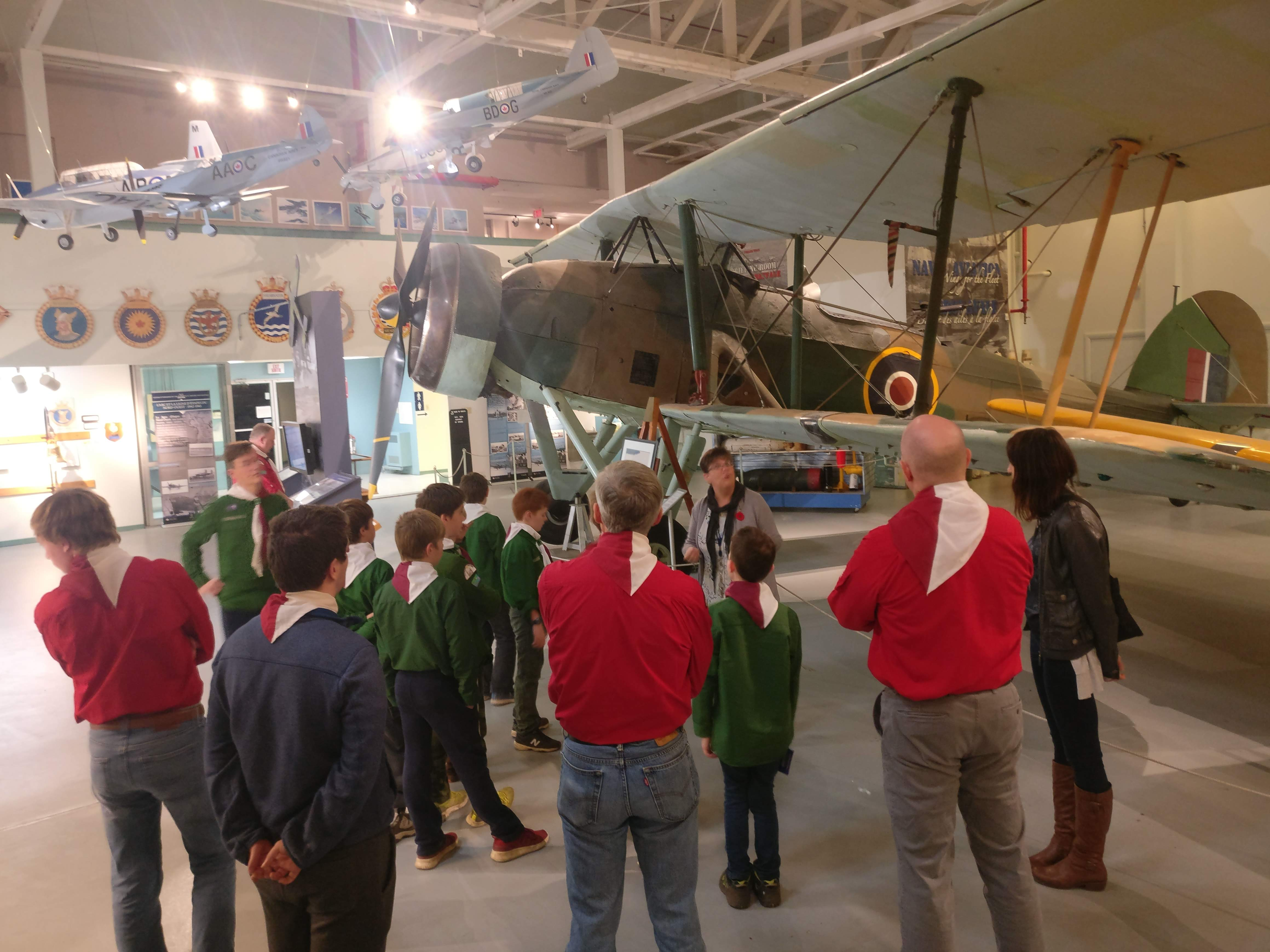 26th Halifax Scouts Touring the Shearwater Aviation Museum.