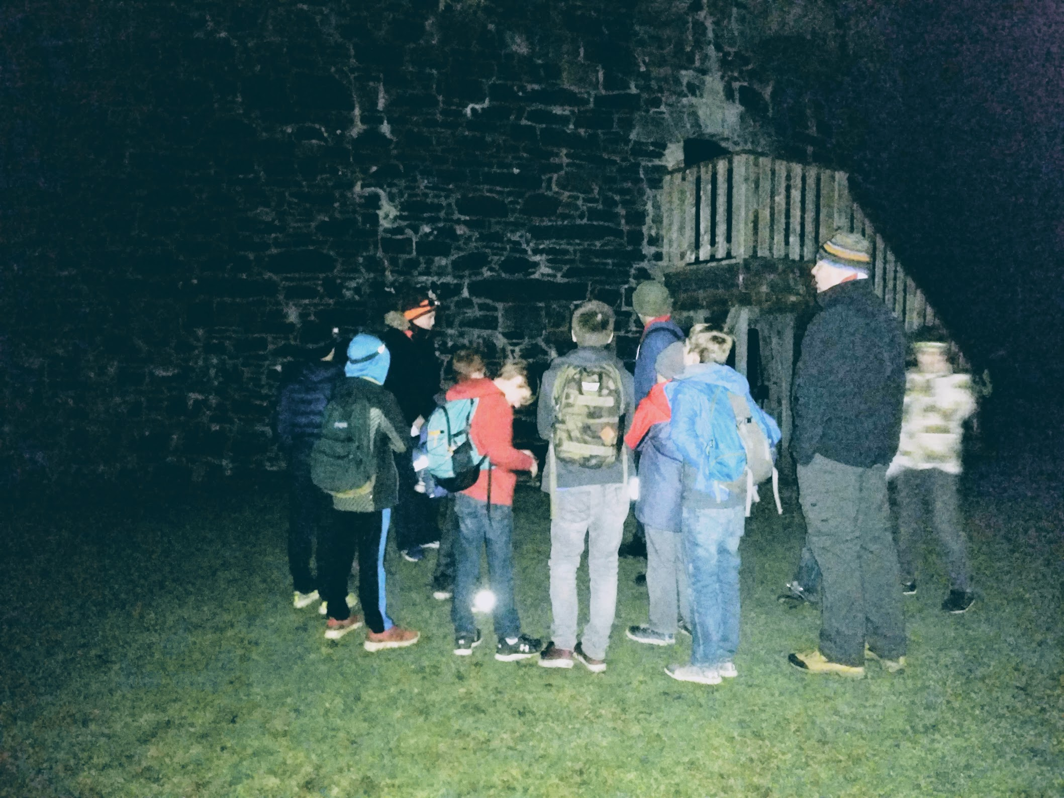 26th Halifax Scouts explore Point Pleasant Park's history on a night hike.