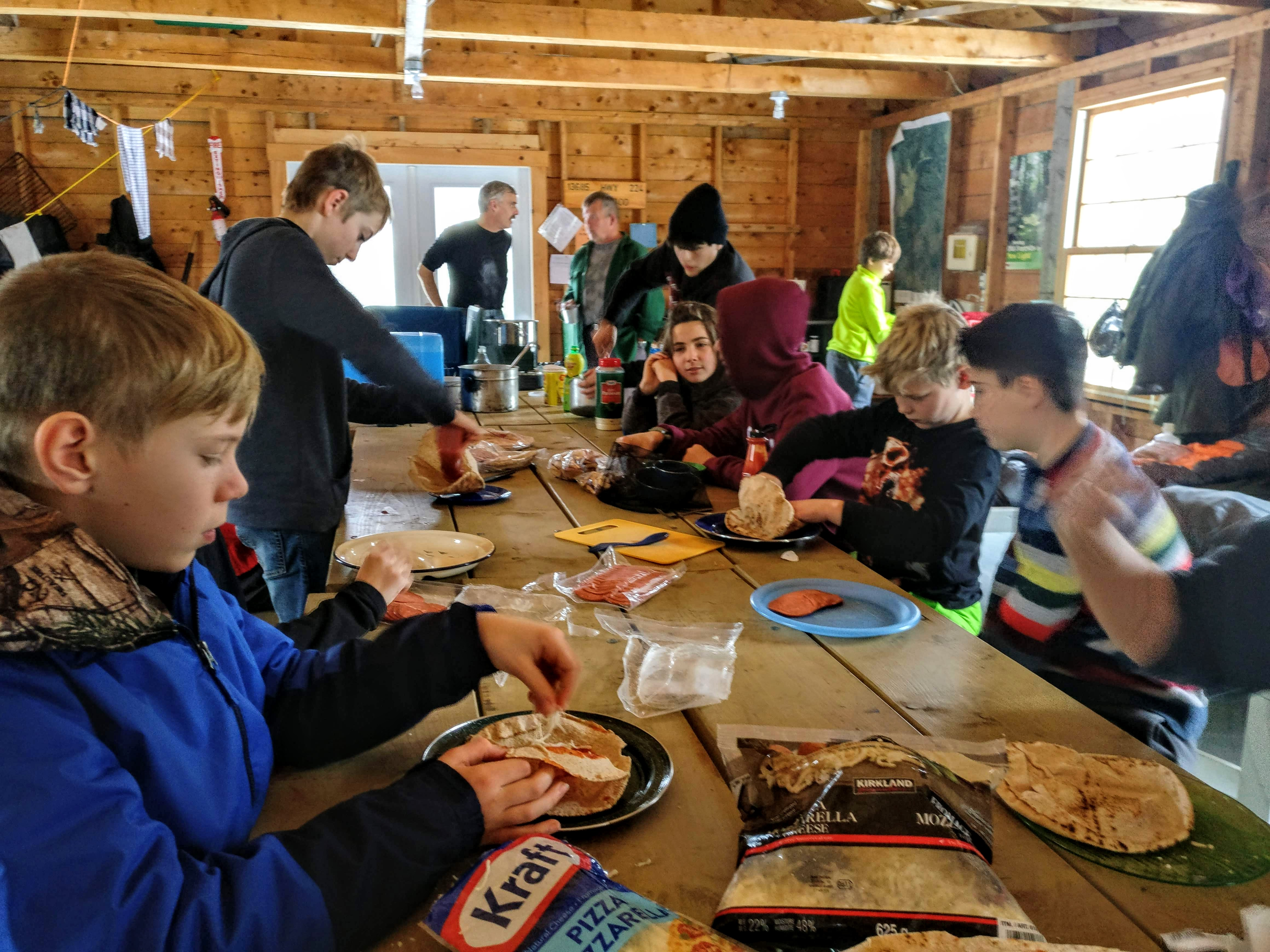 26th Halifax Scouts prepare lunch at Chaswood